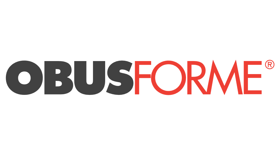 A logo for ObusForm, a brand of ergonomic products.
