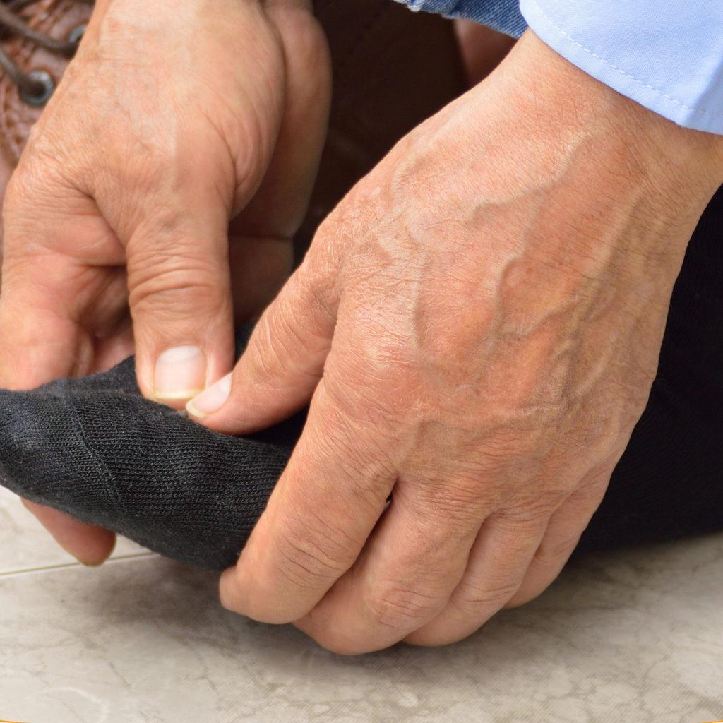 self foot massage